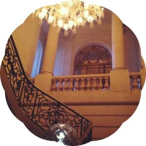 Les Musees de Paris- Paris Museums- Baccarat staircase