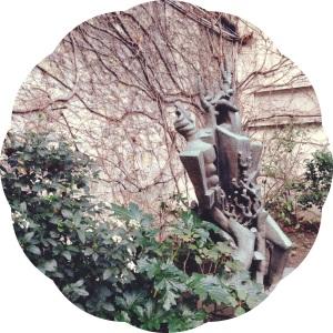 lesmuseesdeparis- zadkine- garden sculpture