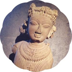 Stèle visnuite, Viet Nam, XIIe siècle.